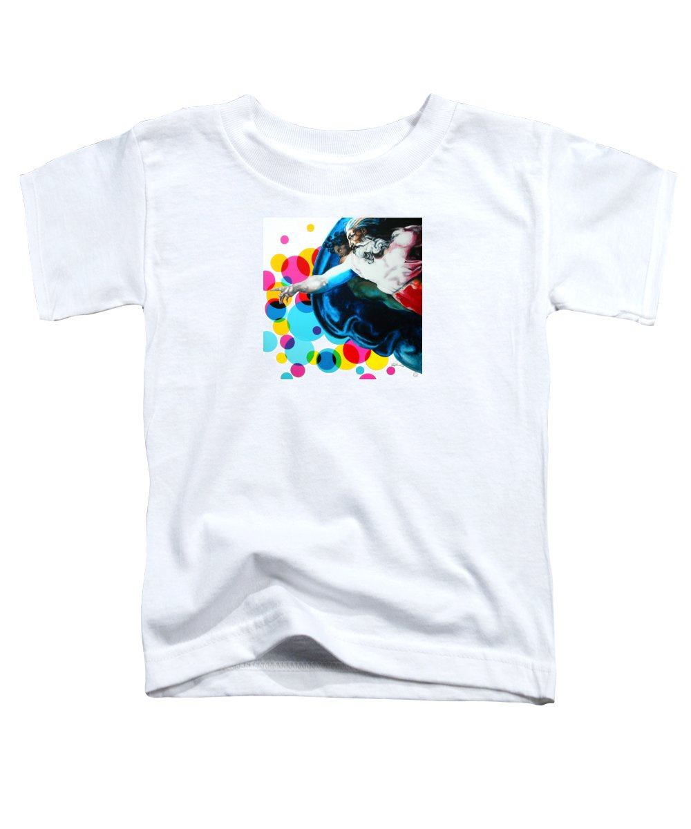 Classic Toddler T-Shirt featuring the painting God by Jean Pierre Rousselet