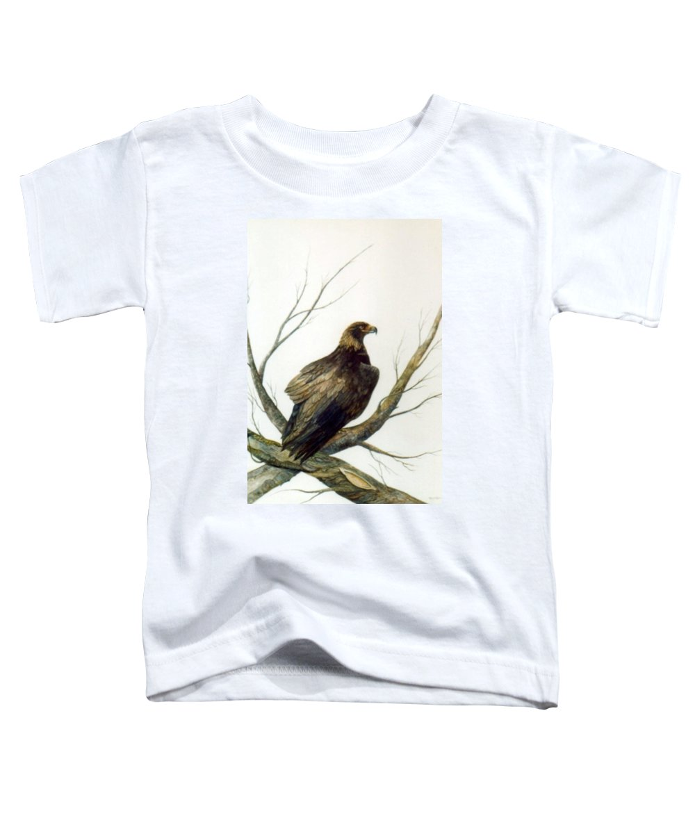 Eagle Toddler T-Shirt featuring the painting Golden Eagle by Ben Kiger