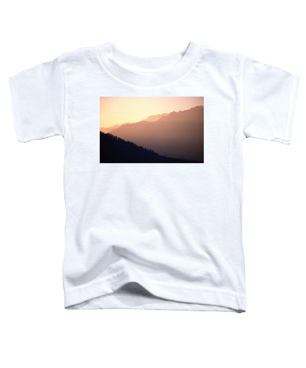 Langtang Toddler T-Shirt featuring the photograph Golden Mountains by Patrick Klauss