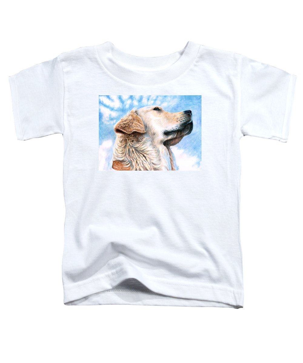 Dog Toddler T-Shirt featuring the painting Golden Retriever by Nicole Zeug