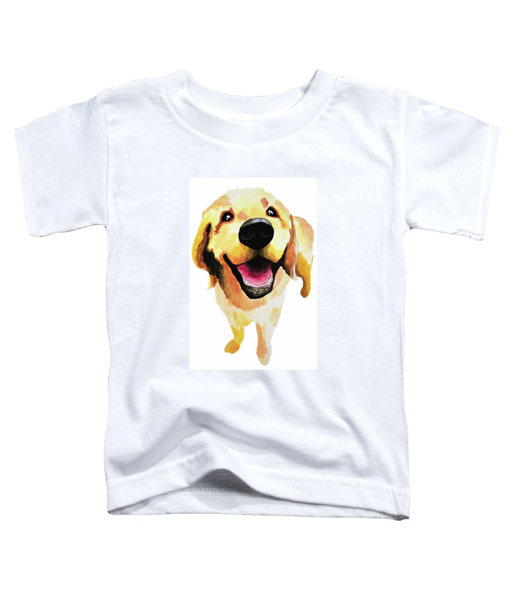 Dog Toddler T-Shirt featuring the painting Good Boy by Amy Giacomelli