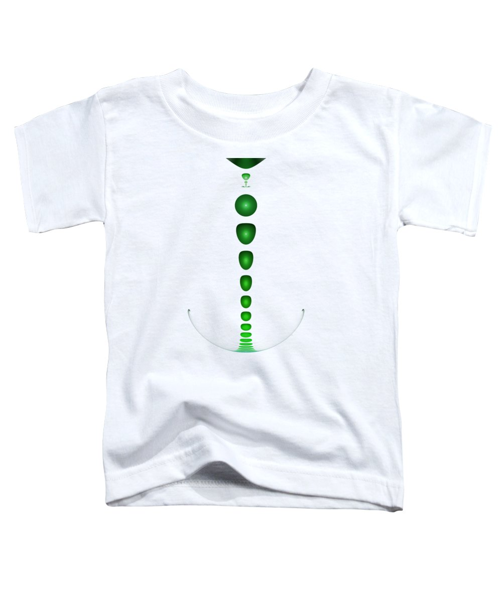 Malakhova Toddler T-Shirt featuring the digital art Green Drop by Anastasiya Malakhova
