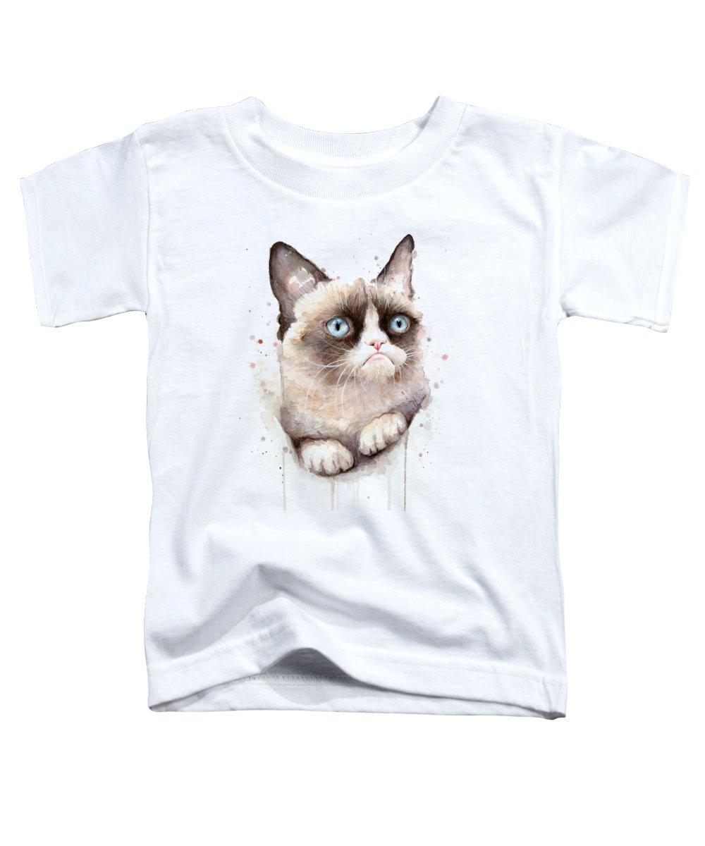 Watercolor Pet Portraits Toddler T-Shirts