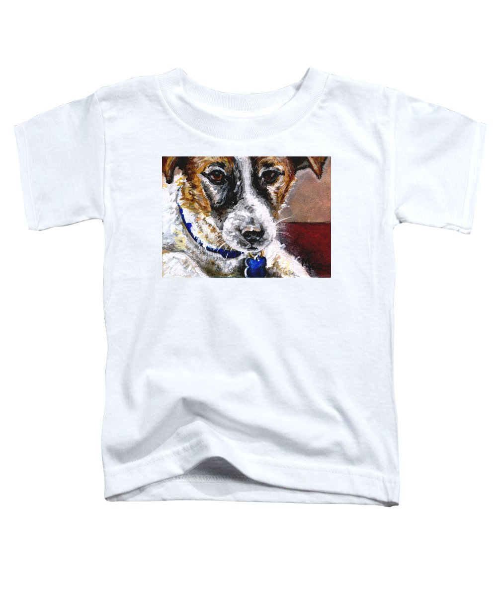 Chartiy Toddler T-Shirt featuring the painting Gunter From Muttville by Mary-Lee Sanders