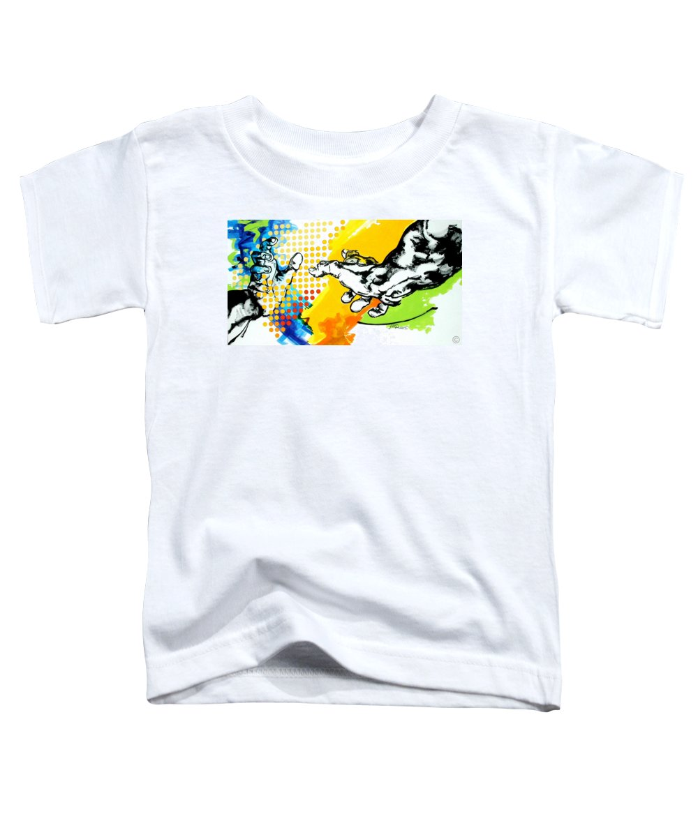 Classic Toddler T-Shirt featuring the painting Hands by Jean Pierre Rousselet