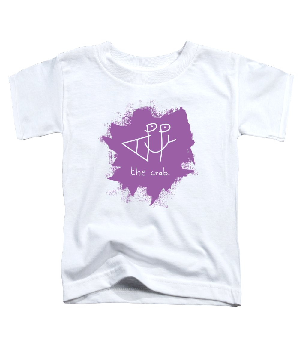 Happy Toddler T-Shirt featuring the mixed media Happy The Crab - Purple by Chris N Rohrbach