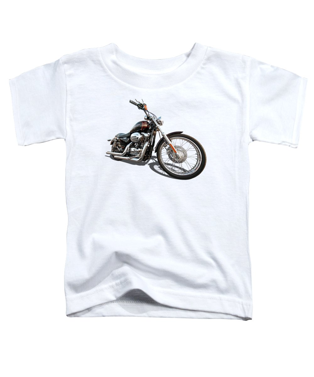 Harley Davidson Toddler T-Shirt featuring the photograph Harley Sportster Xl1200 Custom by Gill Billington
