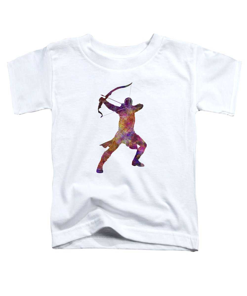 Hawk Toddler T-Shirt featuring the painting Hawk Eye 02 In Watercolor by Pablo Romero