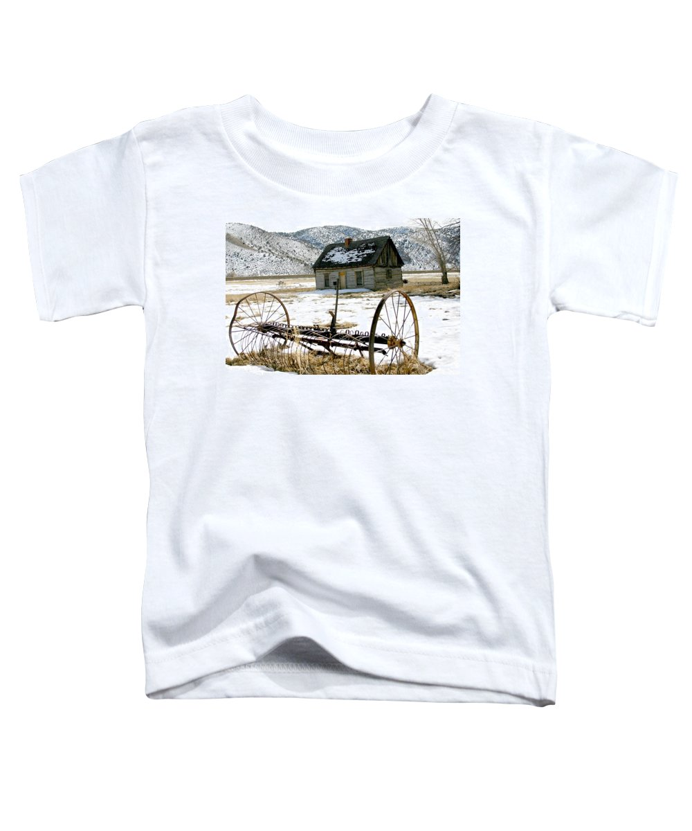 Utah Toddler T-Shirt featuring the photograph Hay Rake At Butch Cassidy by Nelson Strong
