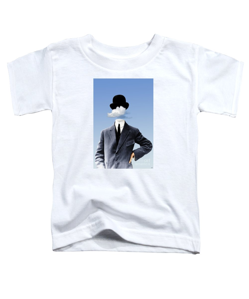 head In The Clouds Toddler T-Shirt featuring the digital art Head In The Clouds by Kenneth Rougeau