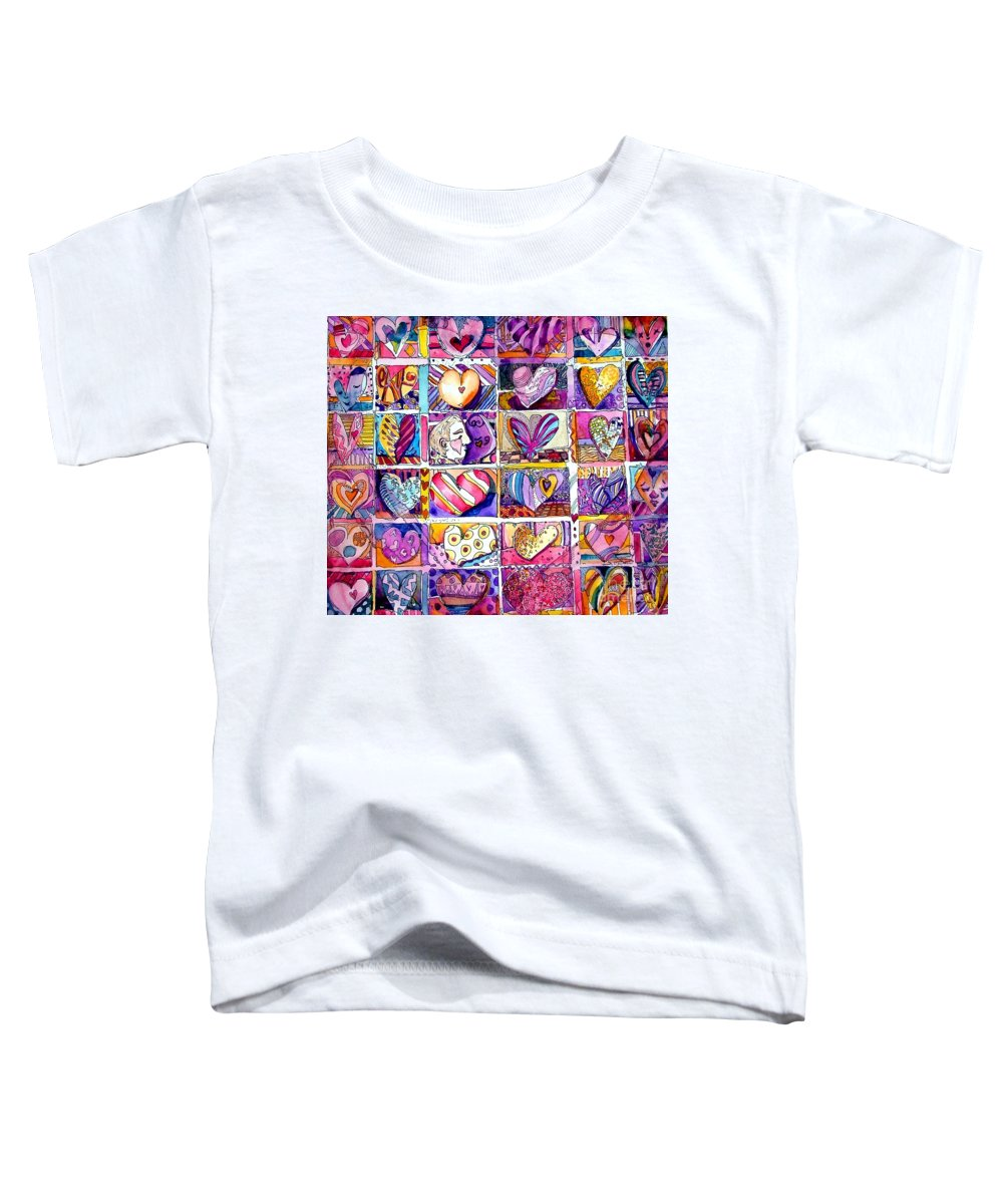 Love Toddler T-Shirt featuring the painting Heart 2 Heart by Mindy Newman