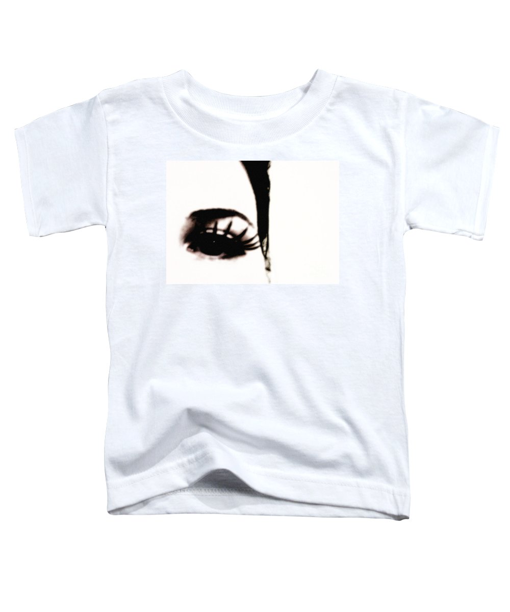 Eye Toddler T-Shirt featuring the photograph Hello by Amanda Barcon