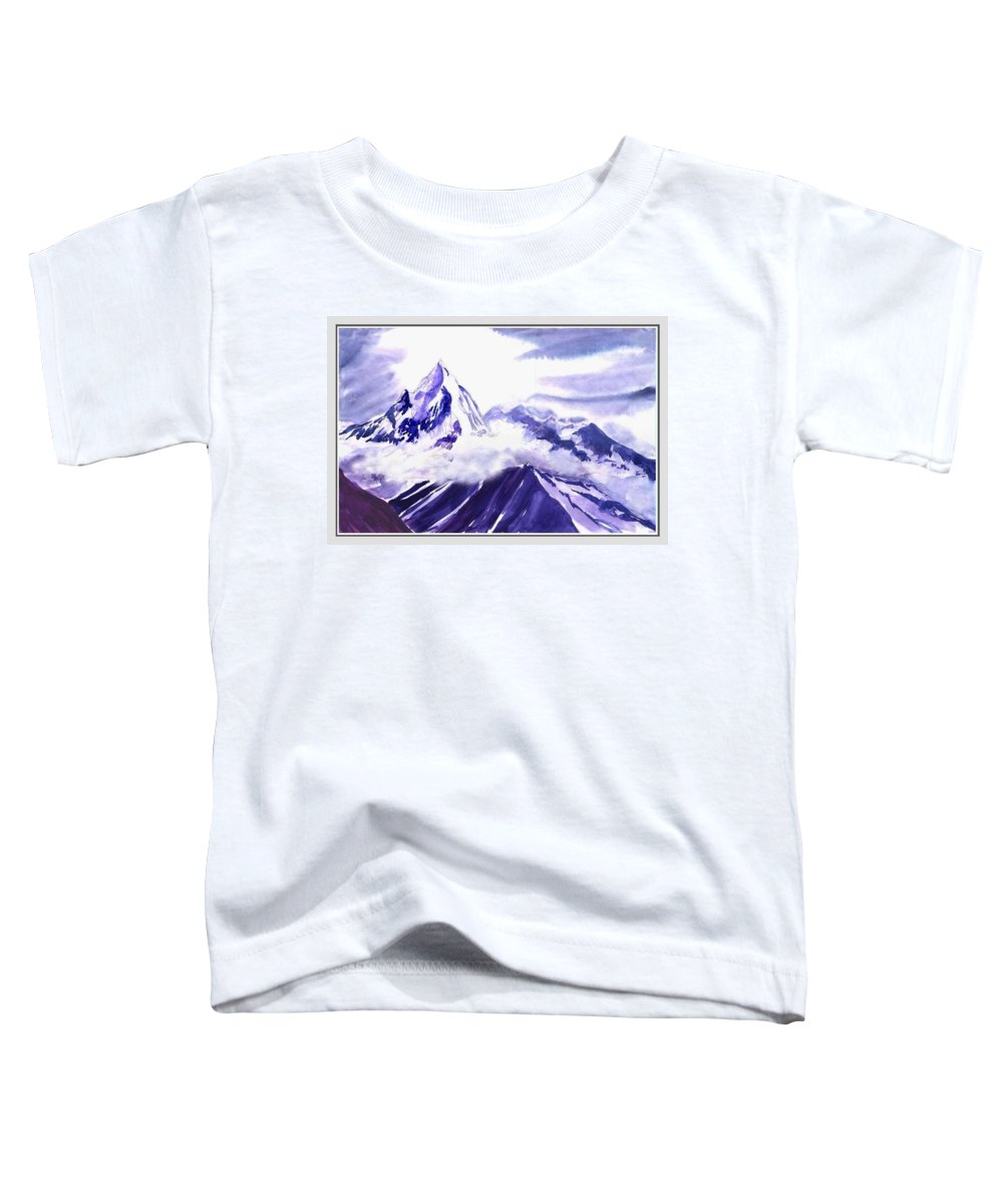 Landscape Toddler T-Shirt featuring the painting Himalaya by Anil Nene