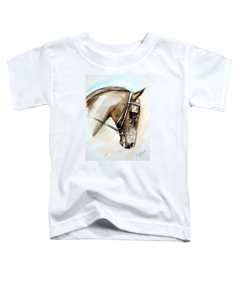 Horse Toddler T-Shirt featuring the painting Horse Head by Leyla Munteanu