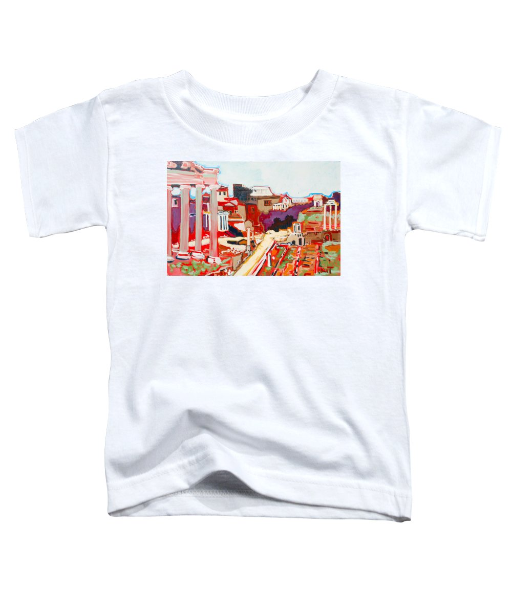 Rome Toddler T-Shirt featuring the painting Il Foro Romano by Kurt Hausmann