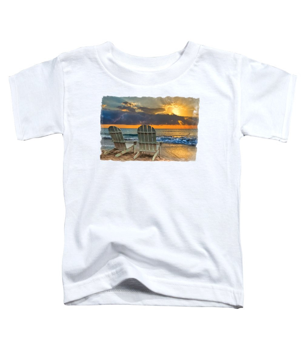 Landscapes Toddler T-Shirt featuring the photograph In The Spotlight Bordered by Debra and Dave Vanderlaan