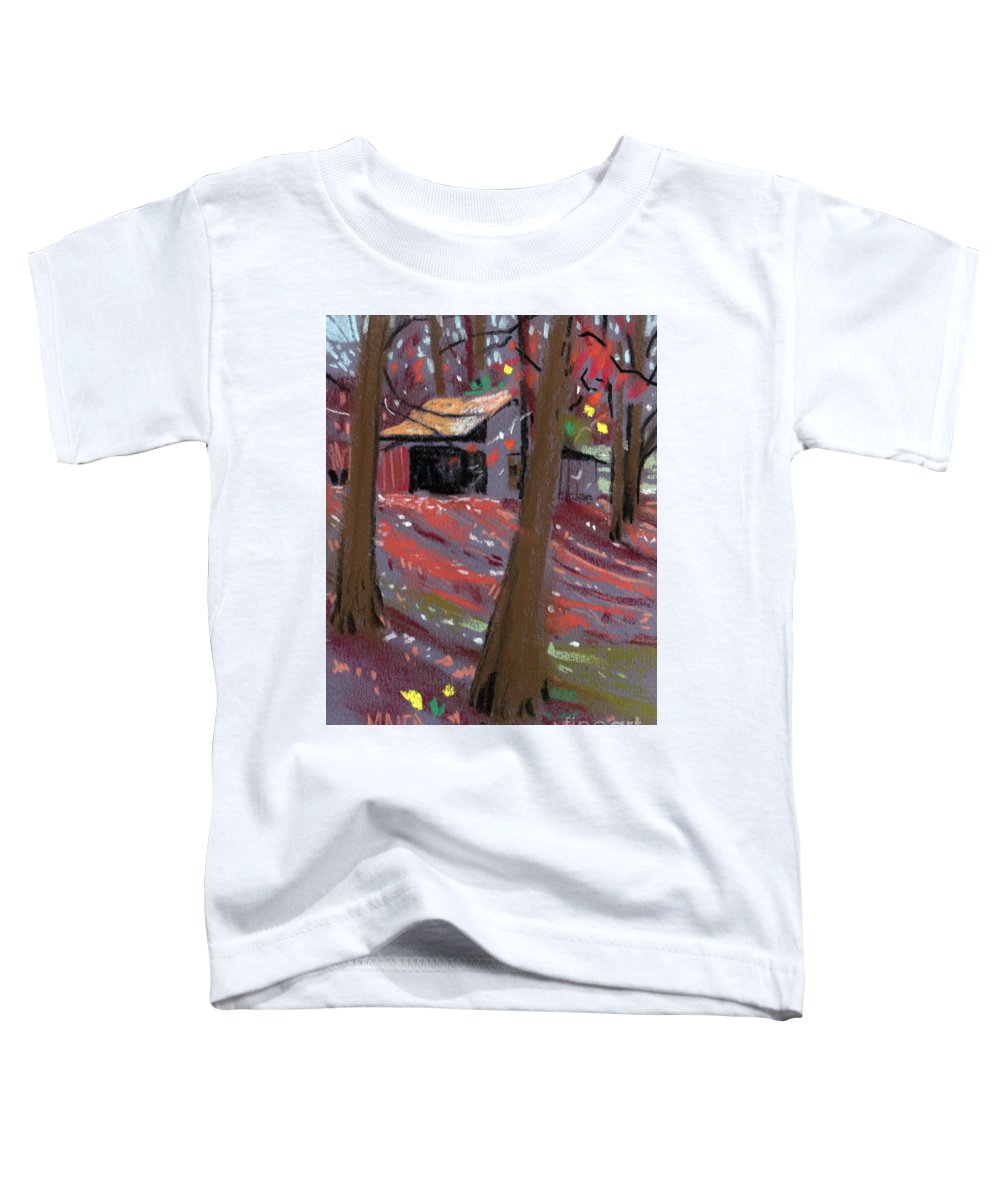Barns Toddler T-Shirt featuring the drawing James's Barns 3 by Donald Maier