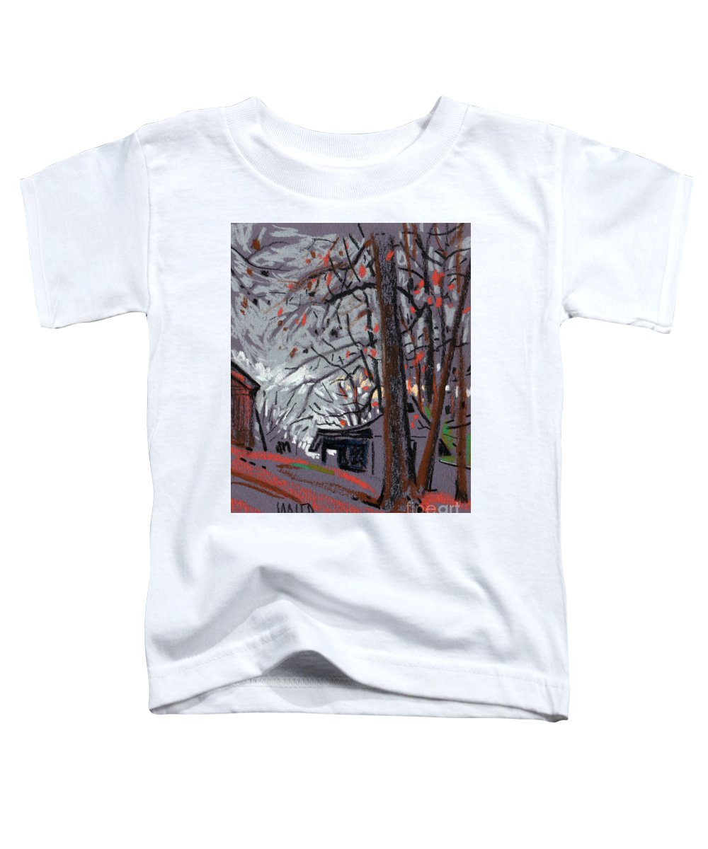 Barns Toddler T-Shirt featuring the drawing James's Barns 7 by Donald Maier