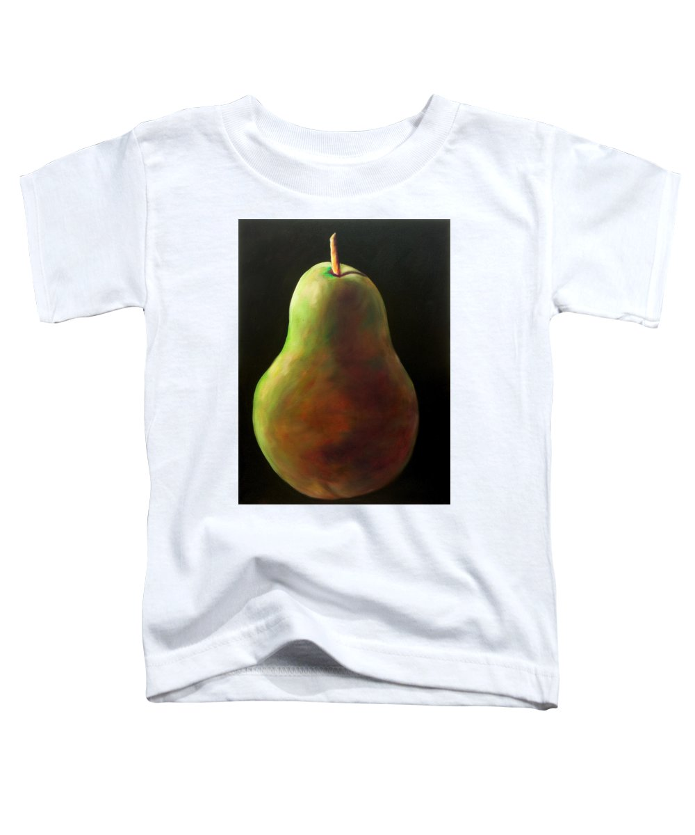 Pear Toddler T-Shirt featuring the painting Jan by Shannon Grissom
