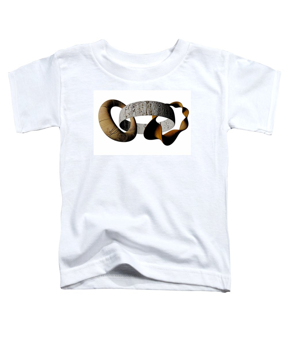 Circle Toddler T-Shirt featuring the digital art Join Circles by R Muirhead Art