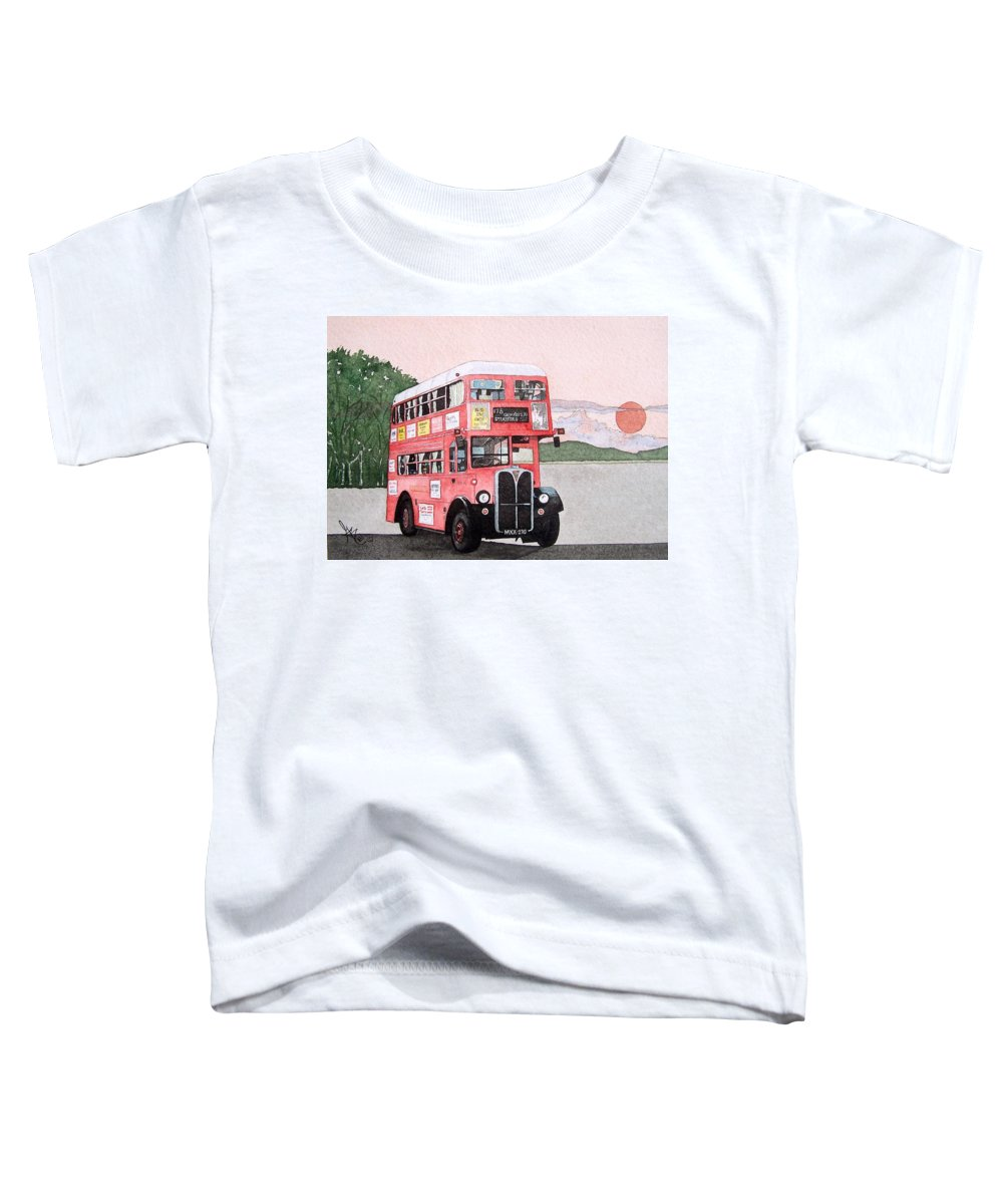 Bus Toddler T-Shirt featuring the painting Kirkland Bus by Gale Cochran-Smith