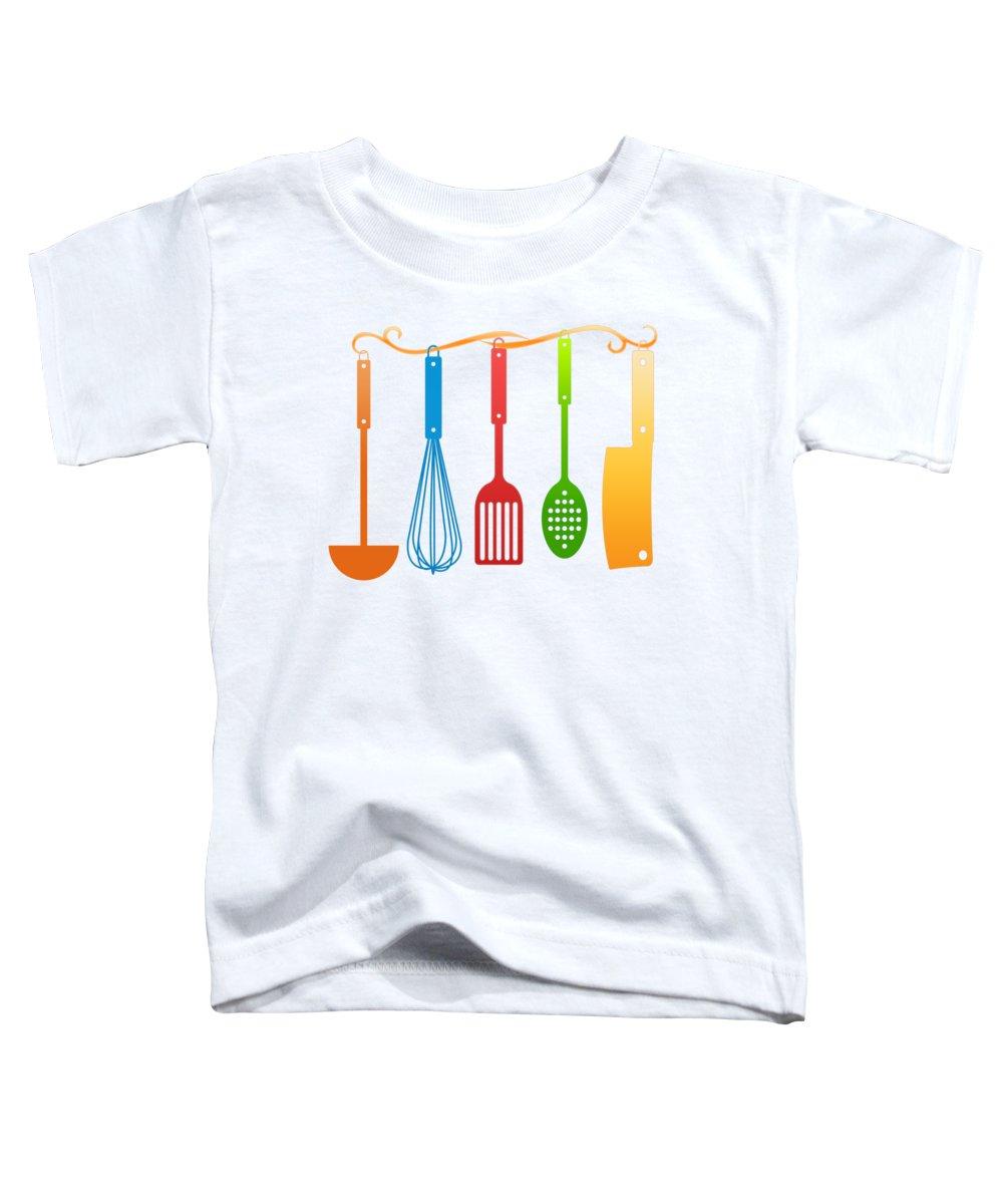 Kitchen Utensils Toddler T-Shirts