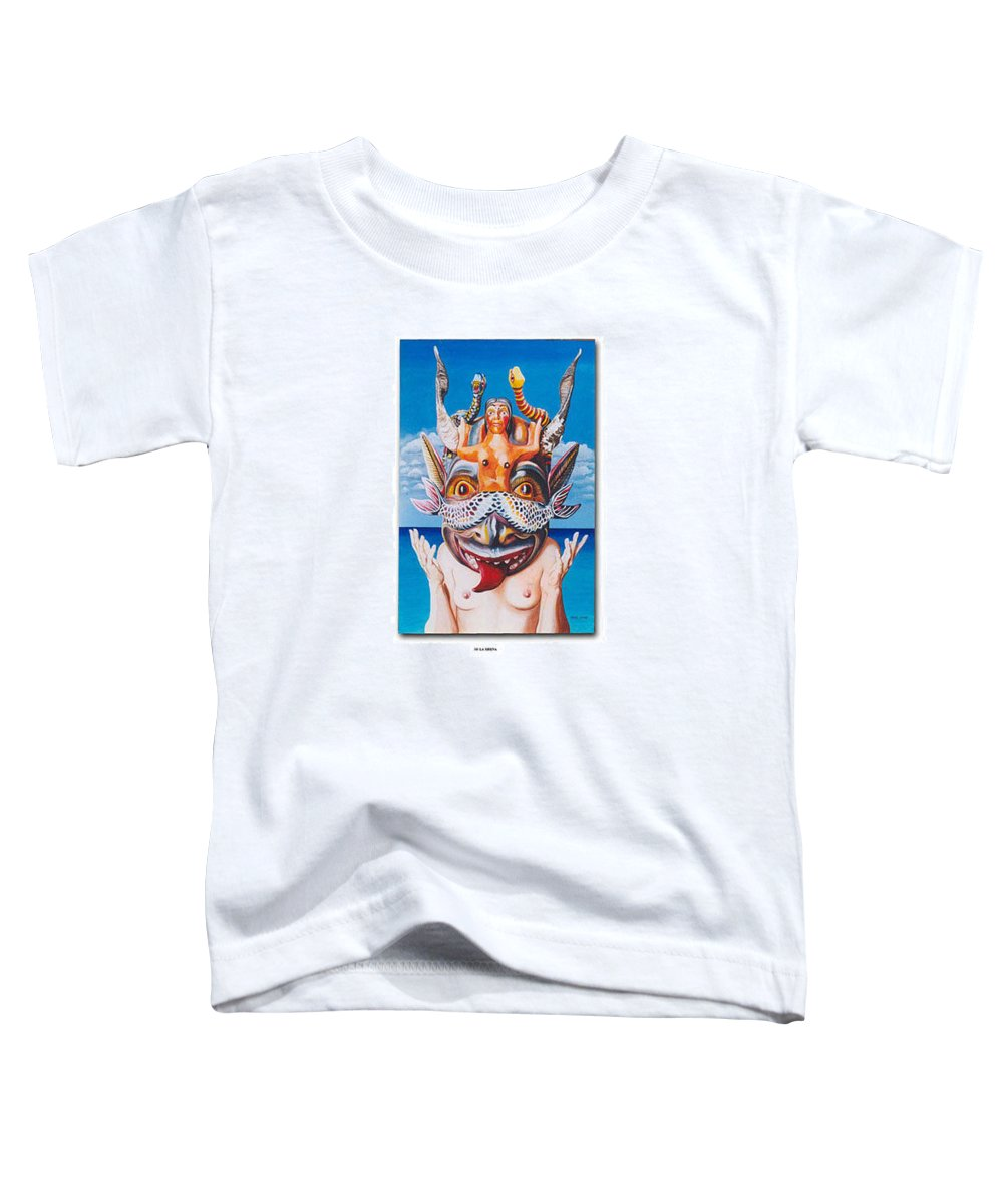 Hyperrealism Toddler T-Shirt featuring the painting La Sirena by Michael Earney