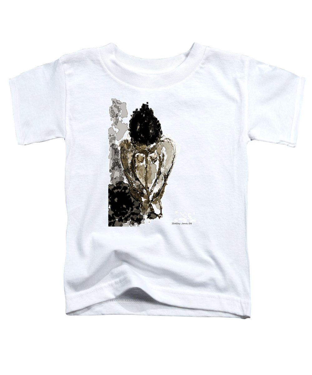 Lady Toddler T-Shirt featuring the digital art Lady Sitting by Shelley Jones