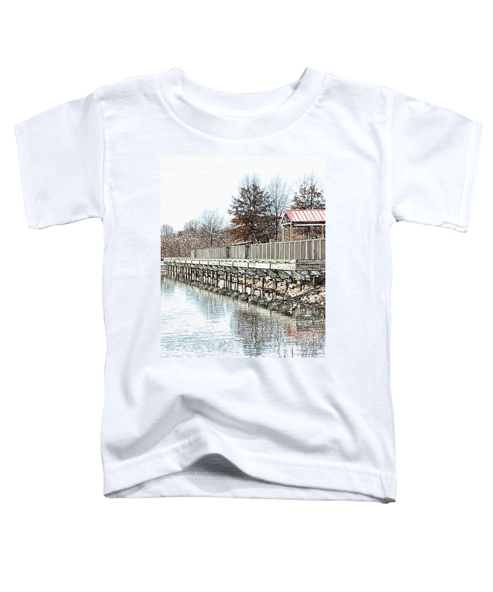 Lakes Toddler T-Shirt featuring the photograph Lake by Amanda Barcon