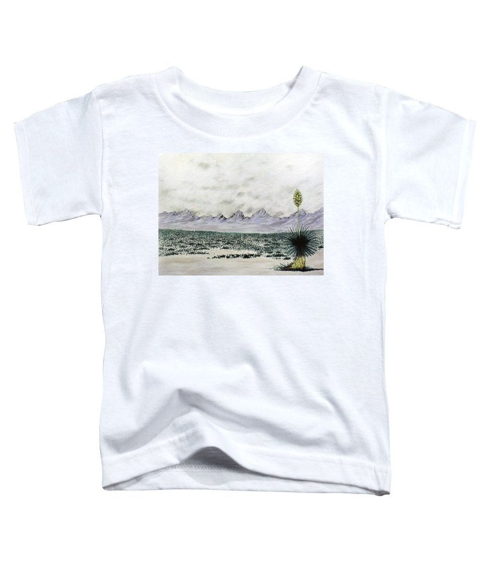 Desertscape Toddler T-Shirt featuring the painting Land of Enchantment by Marco Morales