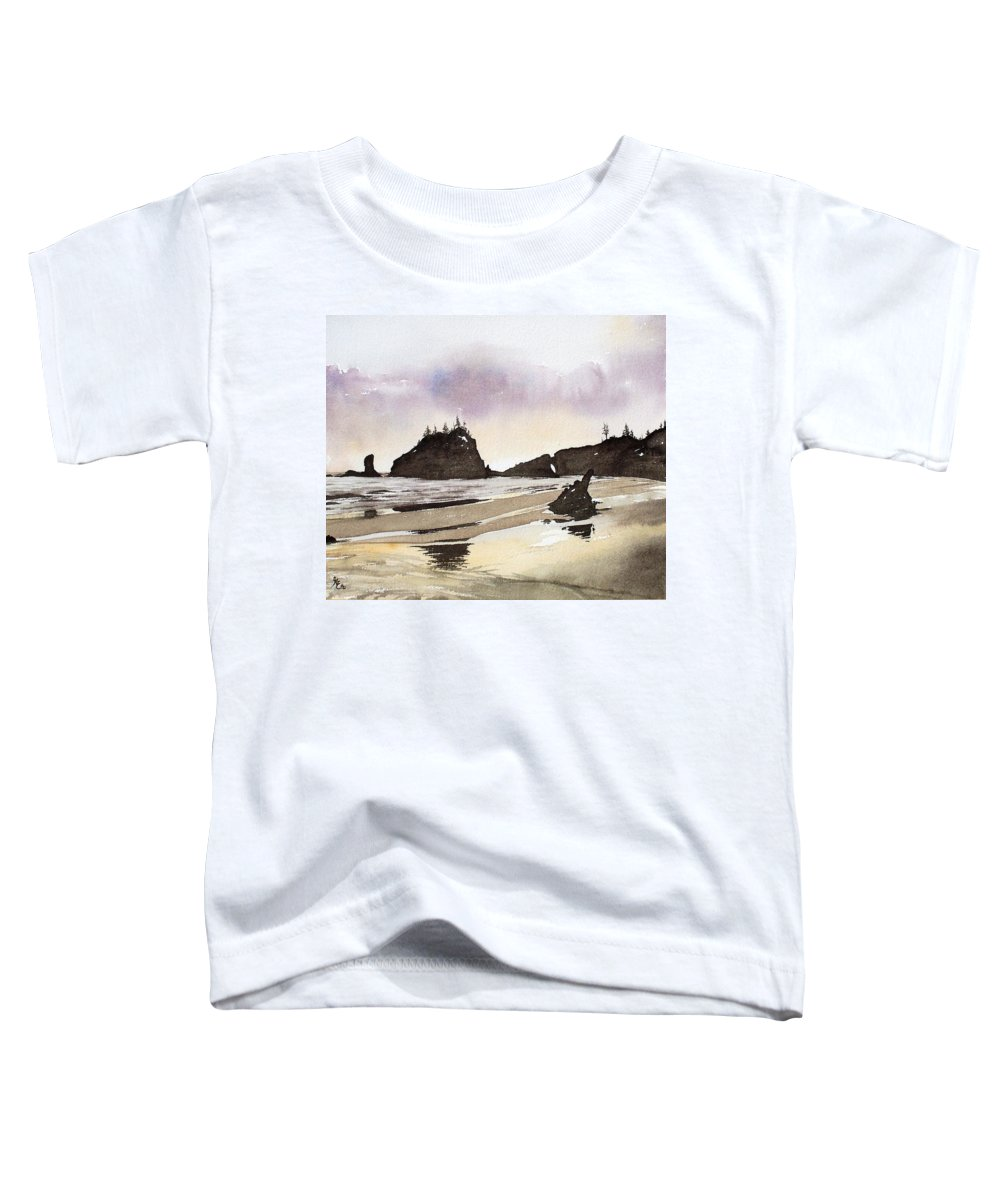 Washington Toddler T-Shirt featuring the painting Lapush by Gale Cochran-Smith