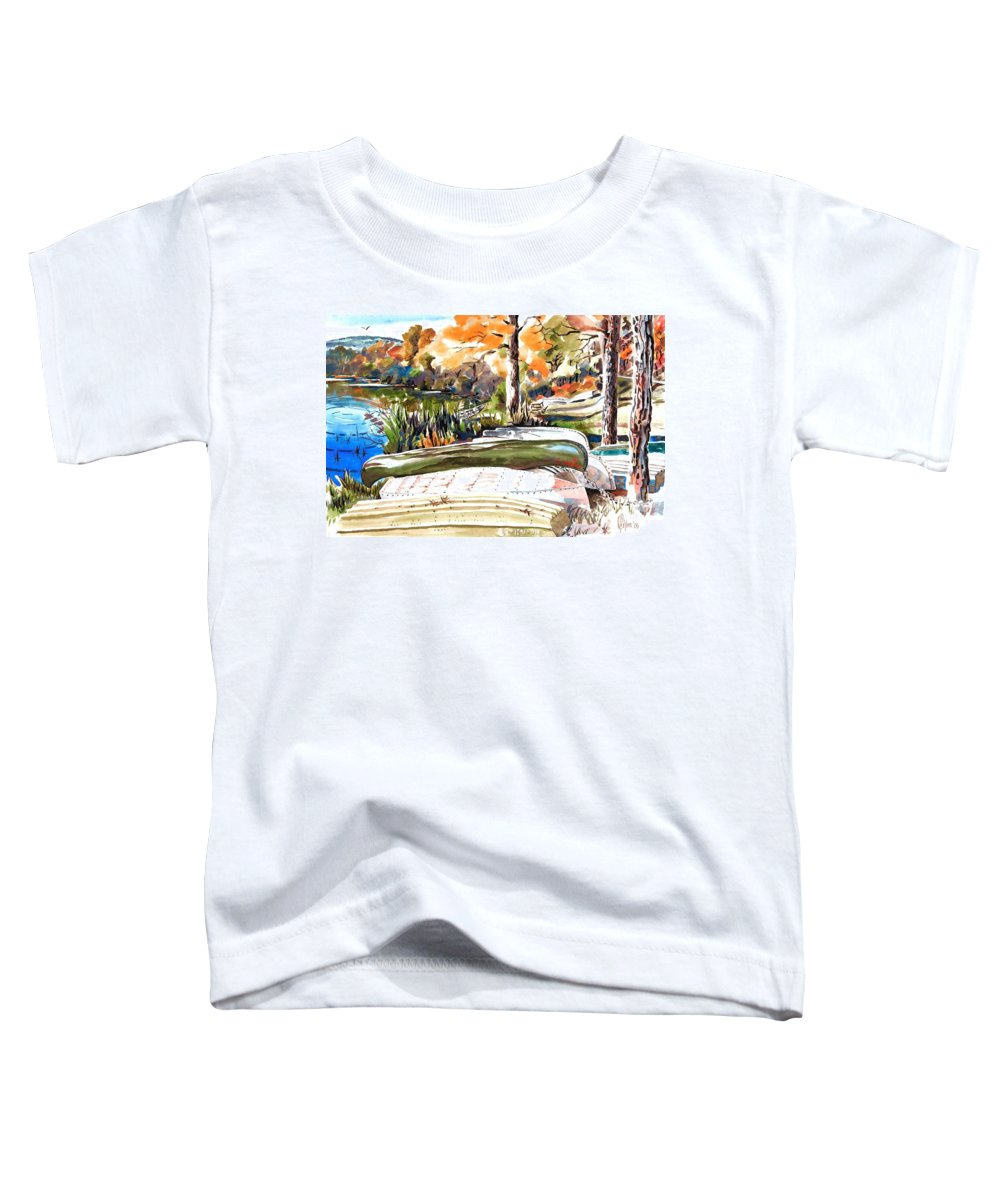 Last Summer In Brigadoon Toddler T-Shirt featuring the painting Last Summer In Brigadoon by Kip DeVore