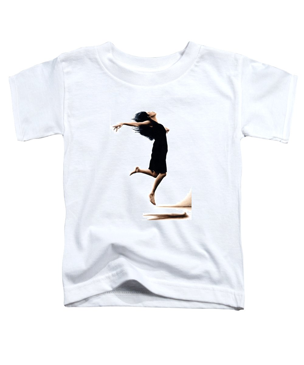Ballet Toddler T-Shirt featuring the painting Leap Into The Unknown by Richard Young
