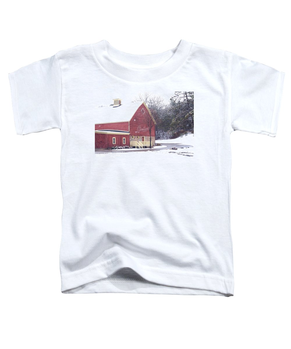 Barn Toddler T-Shirt featuring the photograph Leinie by Tim Nyberg