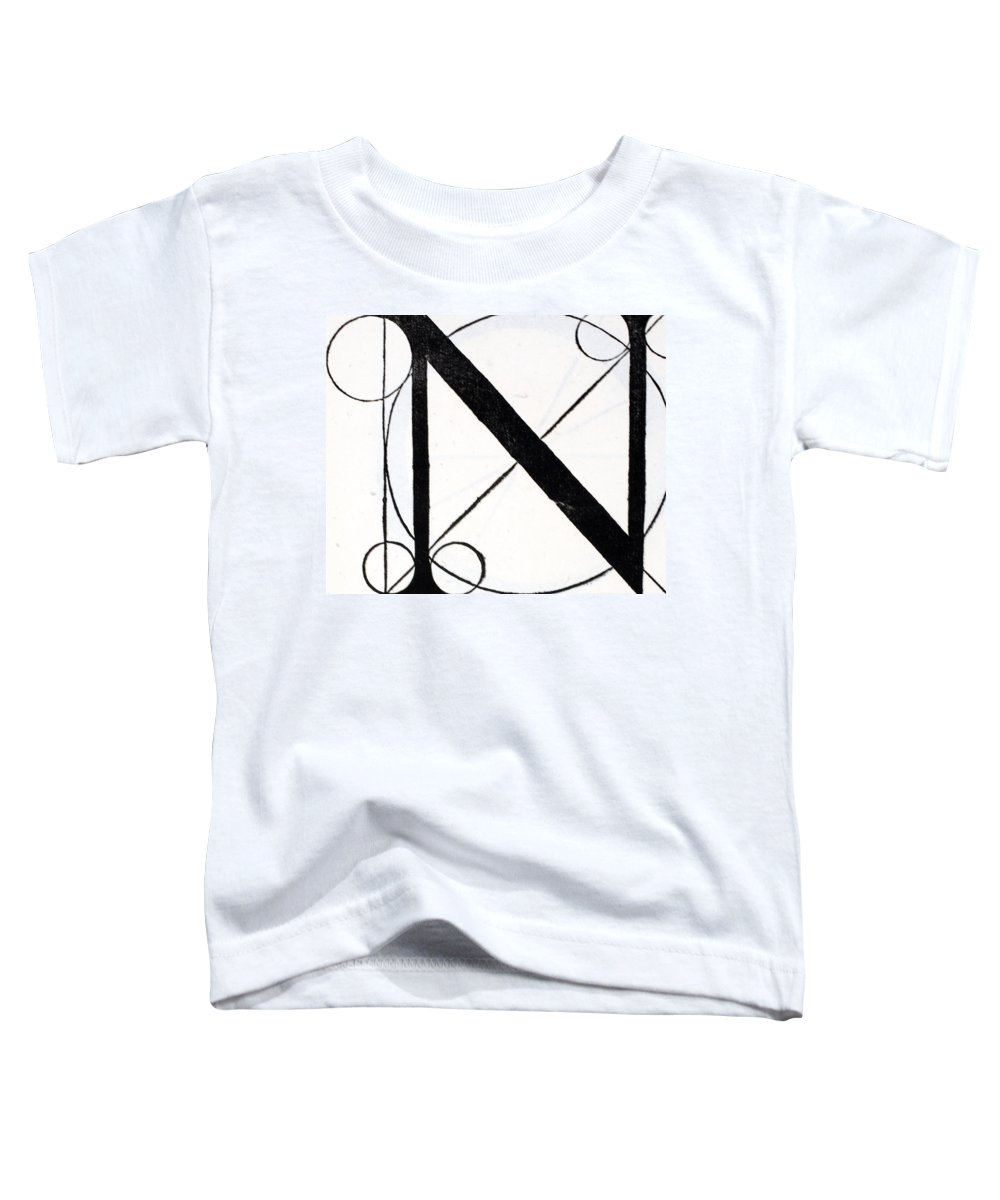 Letter N Toddler T-Shirt featuring the drawing Letter N by Leonardo Da Vinci