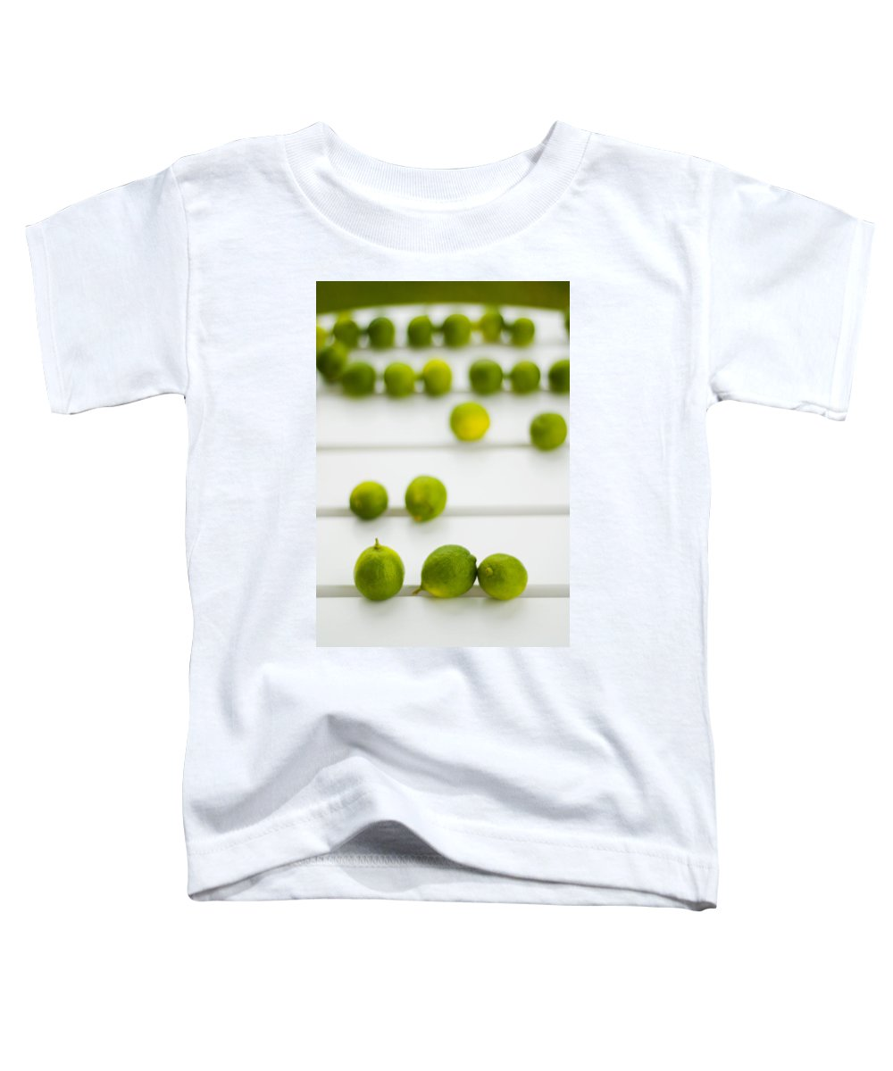 Green Toddler T-Shirt featuring the photograph Lime Green by Skip Hunt