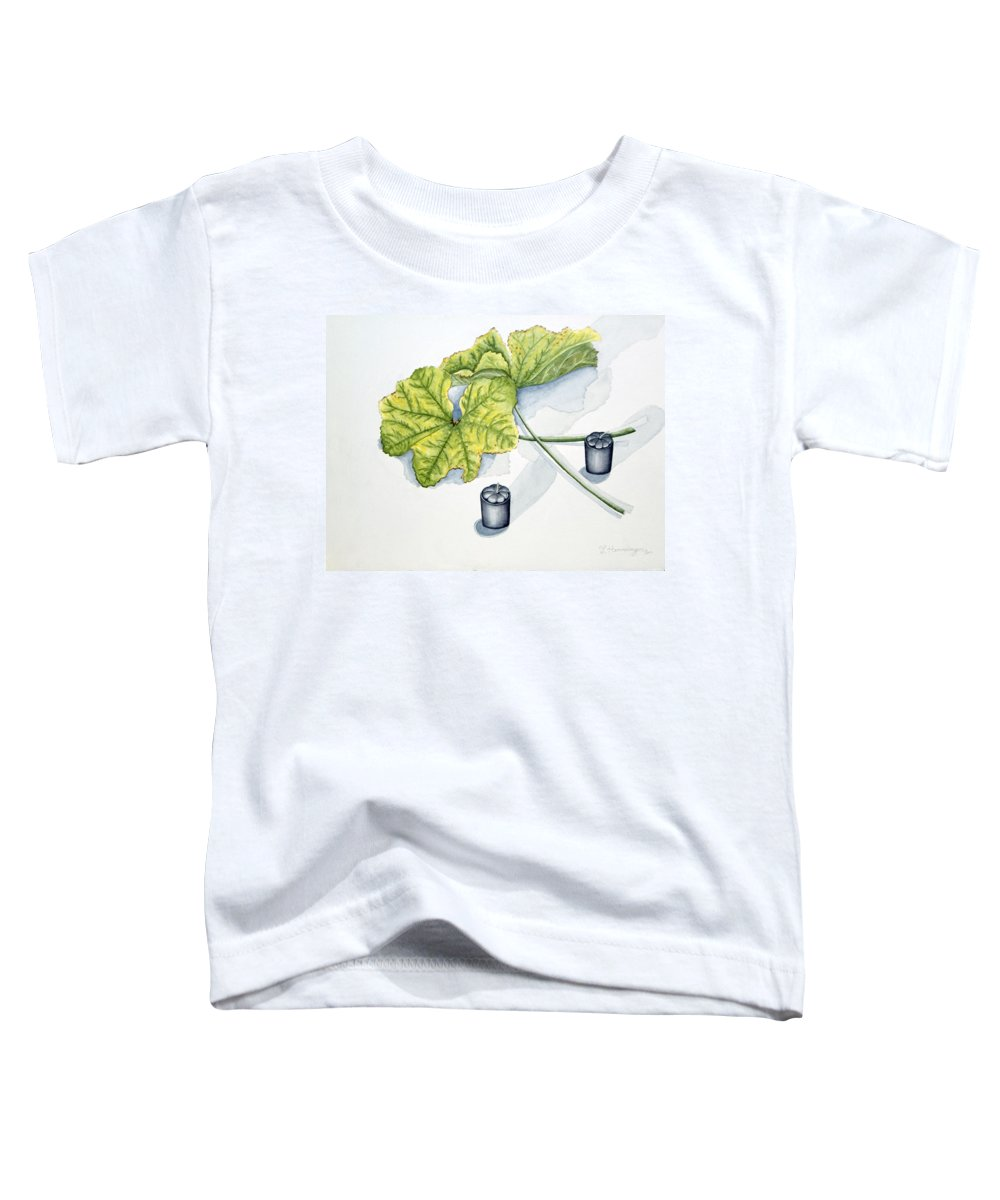 Candles Toddler T-Shirt featuring the painting Little Black Candles by Judy Henninger