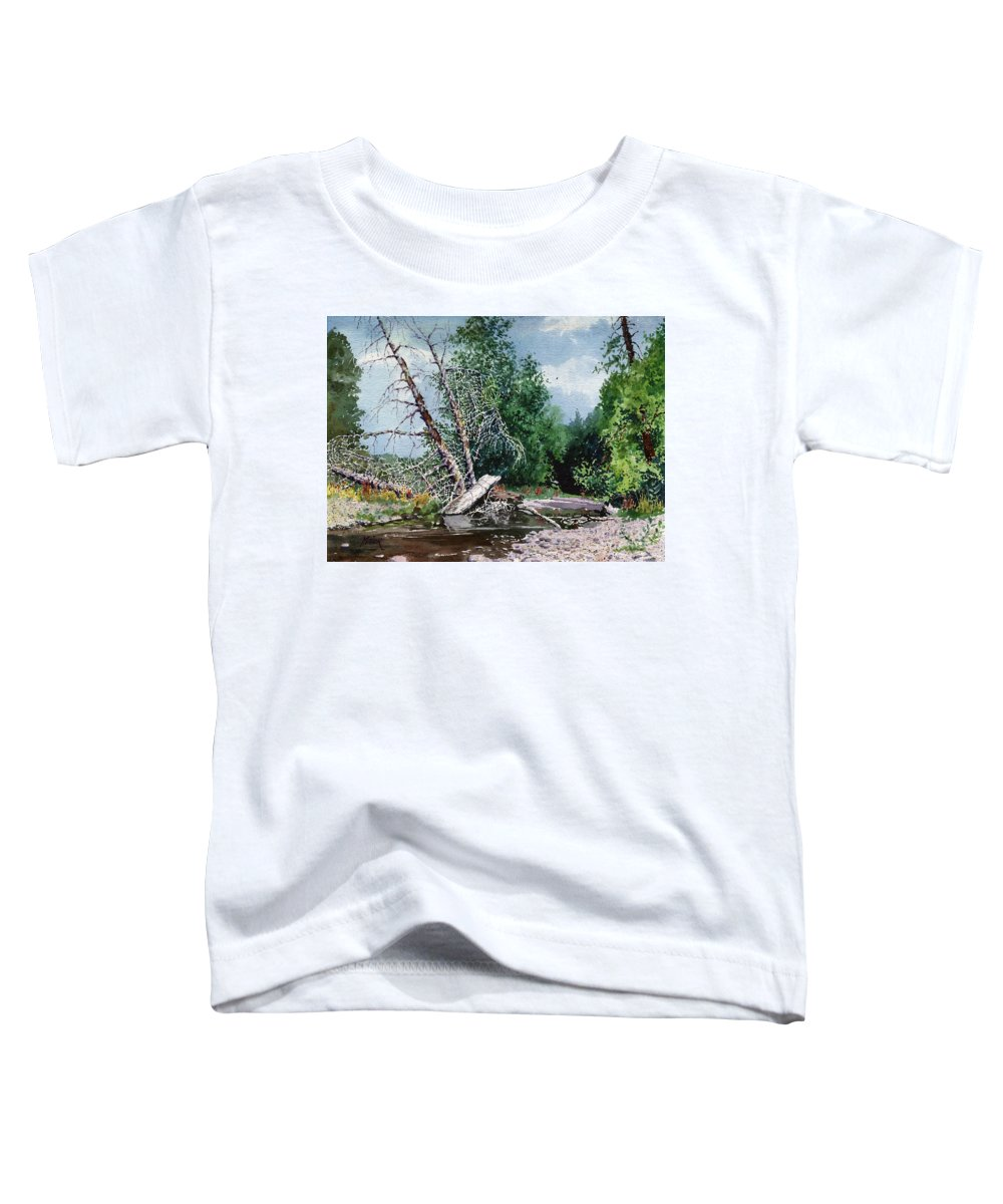 Washington State Toddler T-Shirt featuring the painting Log Jam by Donald Maier