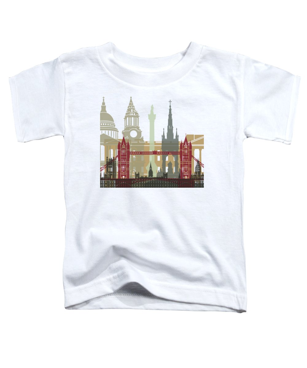 Europe Toddler T-Shirt featuring the painting London Skyline Poster by Pablo Romero