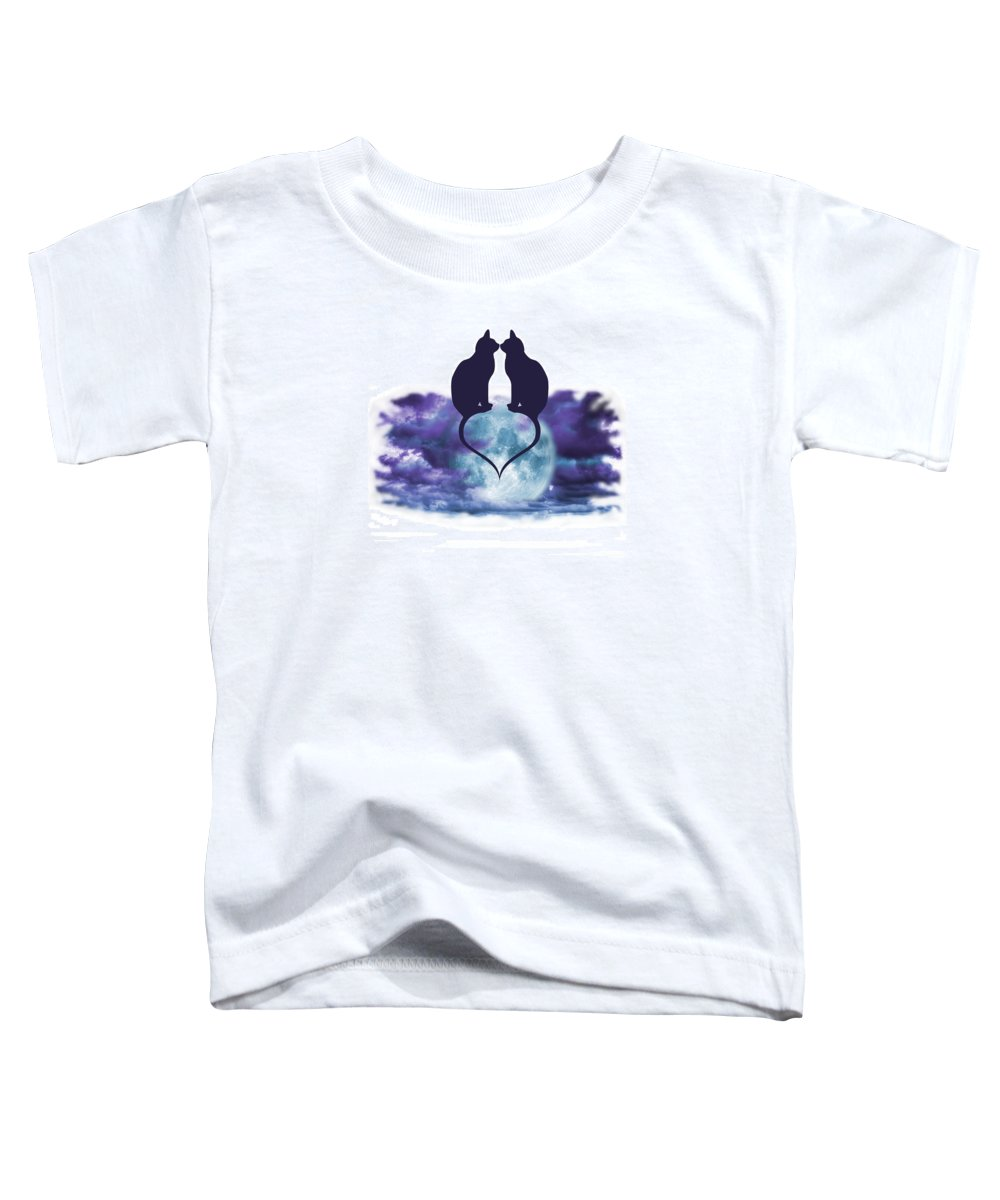 Love Toddler T-Shirt featuring the digital art Love Cats by Brainwave Pictures