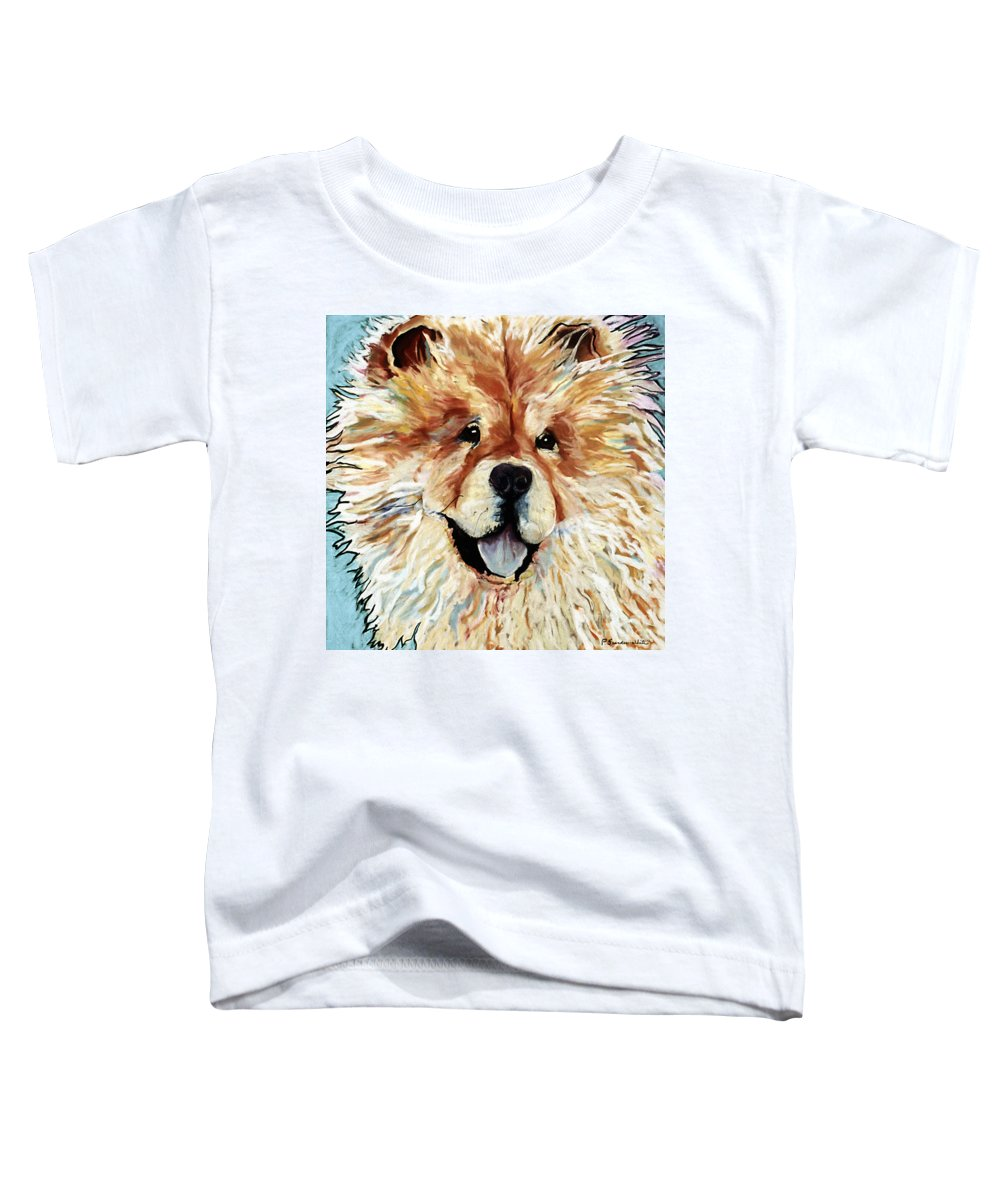 Chow Chow Toddler T-Shirt featuring the pastel Madame Chu Cho by Pat Saunders-White