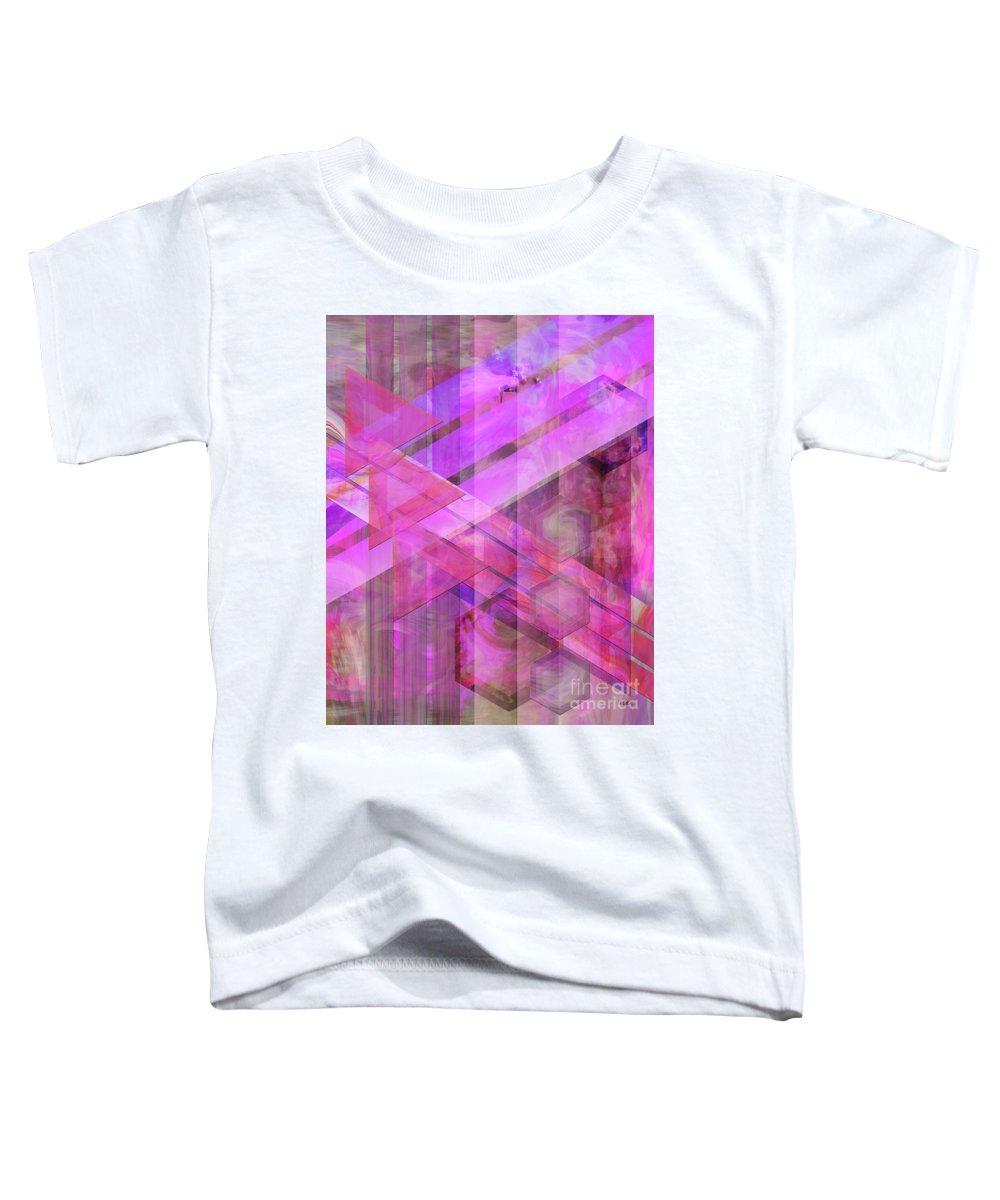 Magenta Haze Toddler T-Shirt featuring the digital art Magenta Haze by John Beck