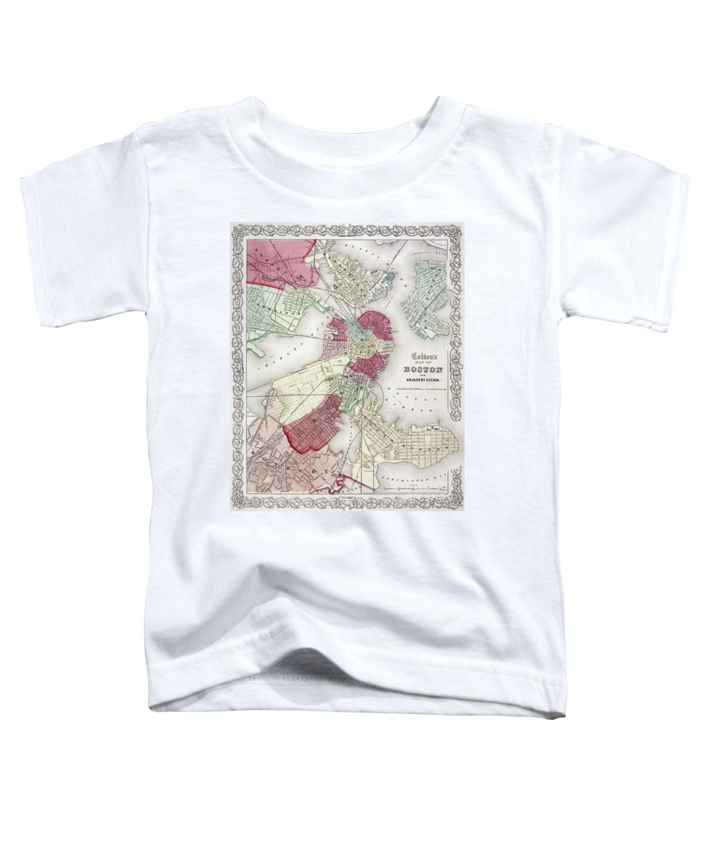 1865 Toddler T-Shirt featuring the photograph Map: Boston, 1865 by Granger