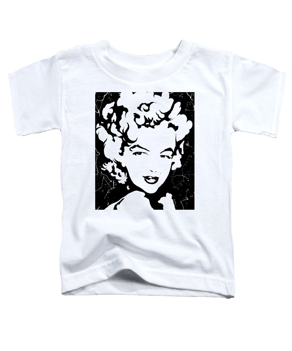 Portrait Toddler T-Shirt featuring the painting Marilyn Monroe by Curtiss Shaffer