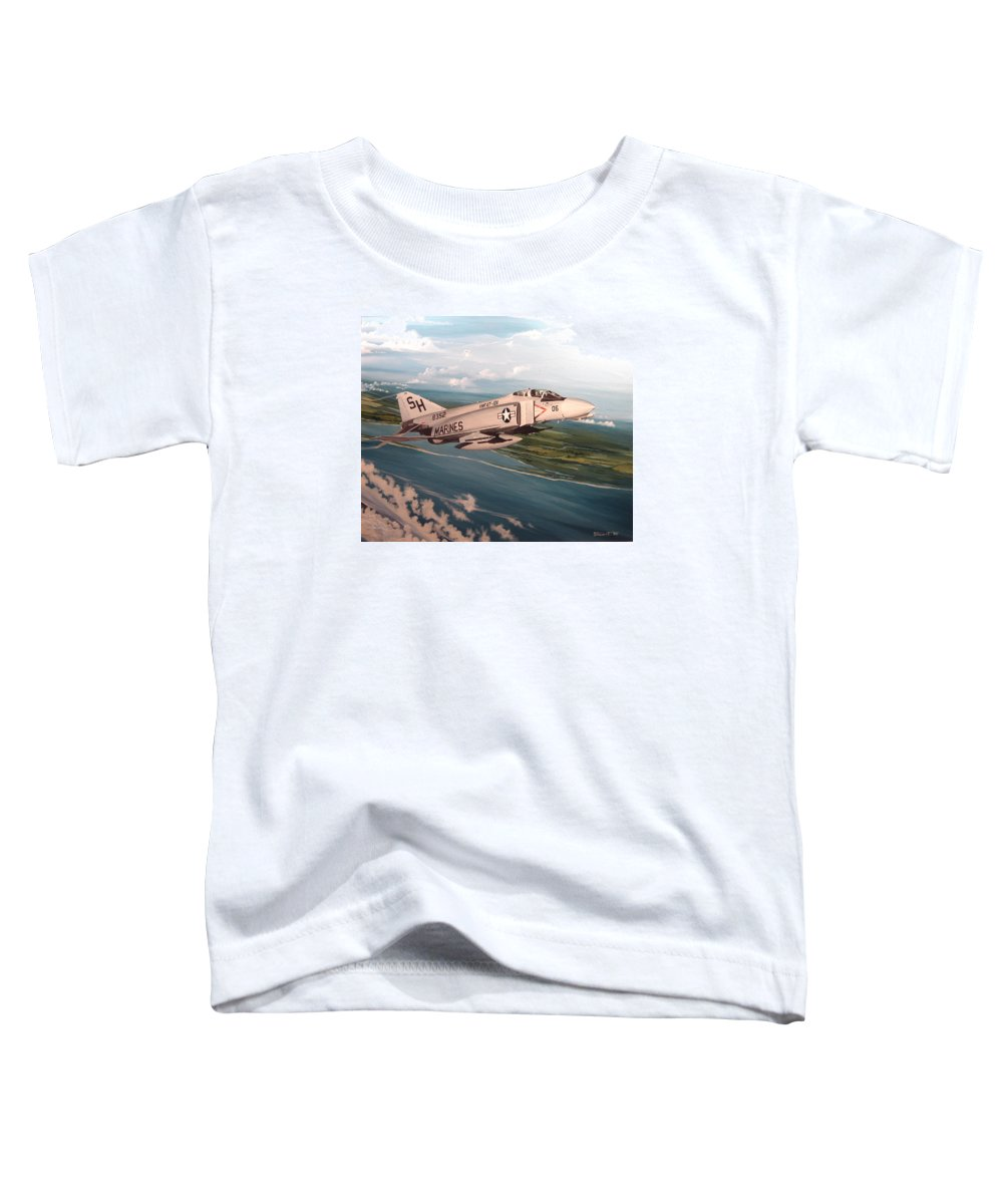 Aviation Toddler T-Shirt featuring the painting Marine Phantom by Marc Stewart
