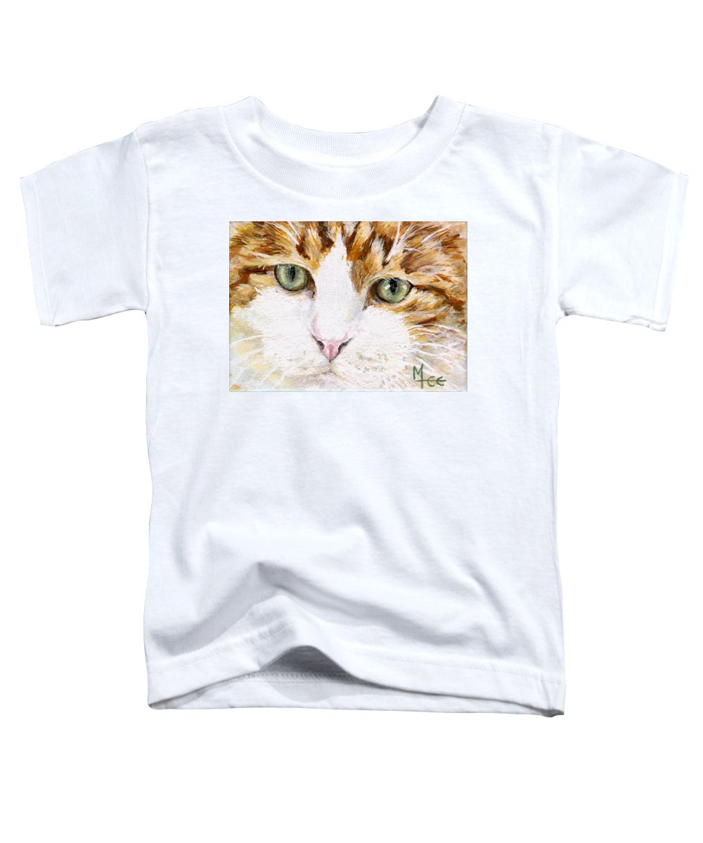 Charity Toddler T-Shirt featuring the painting Max by Mary-Lee Sanders