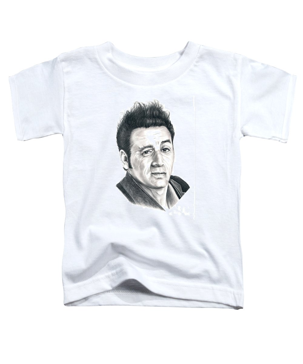 Pencil Toddler T-Shirt featuring the drawing Michael Richards Cosmo Kramer by Murphy Elliott