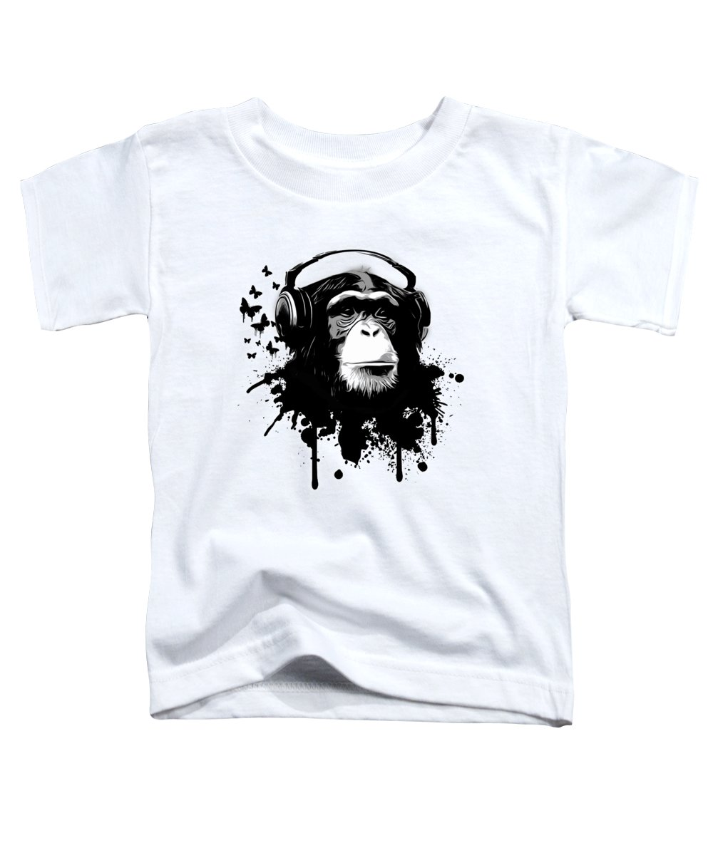 Ape Toddler T-Shirt featuring the digital art Monkey Business by Nicklas Gustafsson