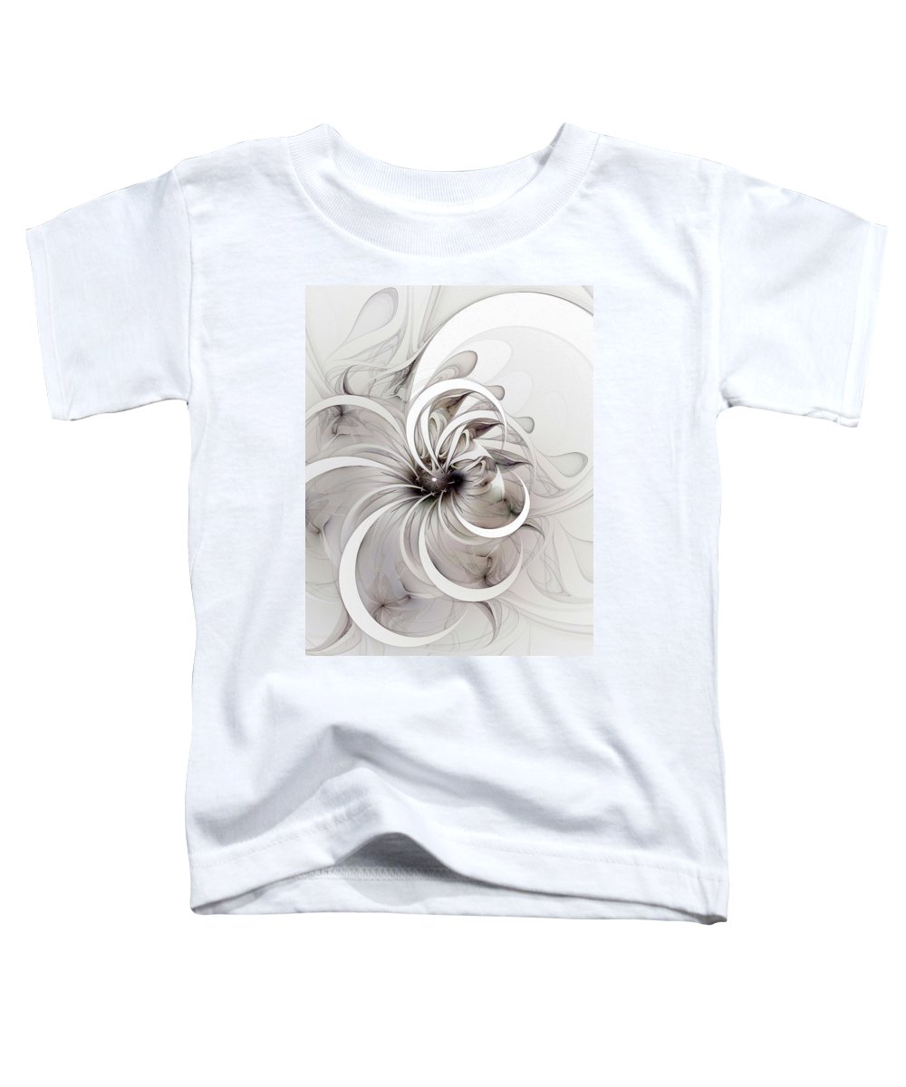 Digital Art Toddler T-Shirt featuring the digital art Monochrome Flower by Amanda Moore
