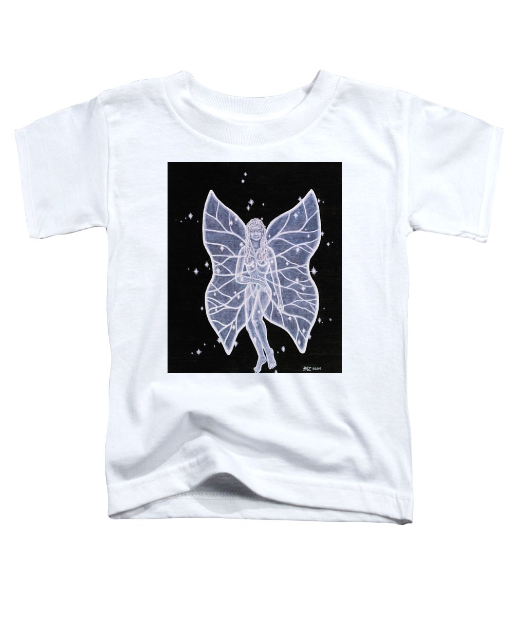 Fairy Toddler T-Shirt featuring the painting Moon Fairy by Roz Eve